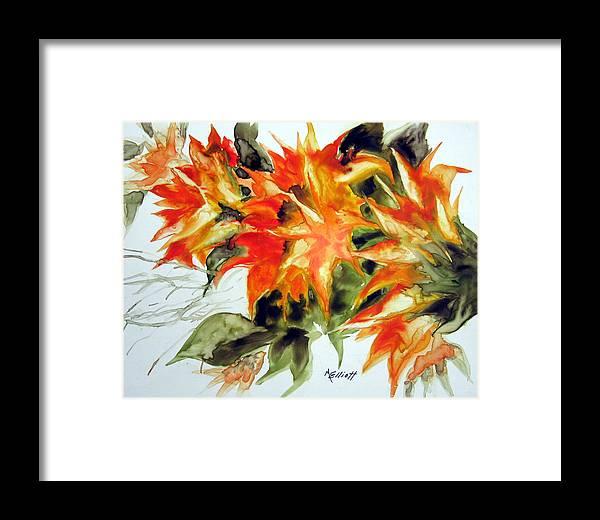 Flowers Framed Print featuring the painting Sundance by Marsha Elliott