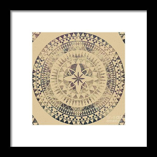 Mandala Framed Print featuring the tapestry - textile Sundara by Mason Denaro