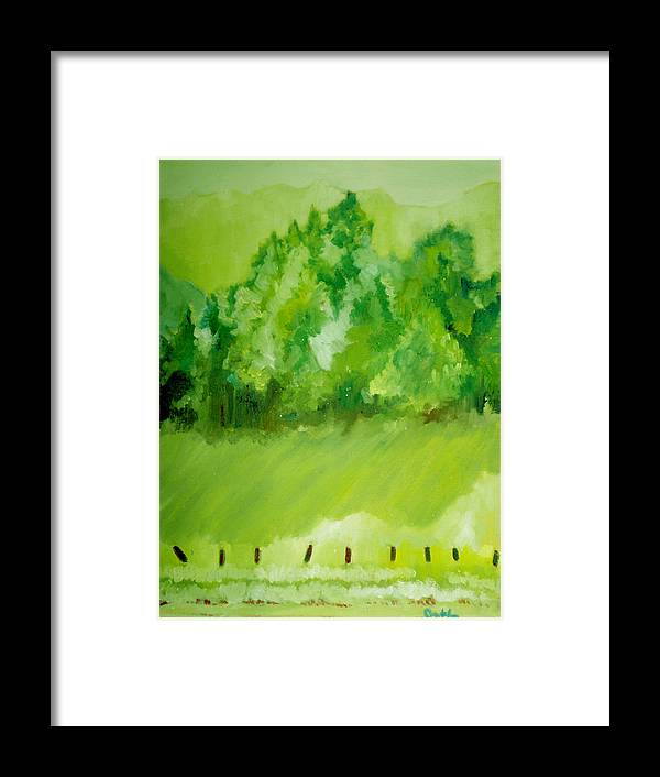 Spring Framed Print featuring the painting Sunday At Two Thirty by Seth Weaver