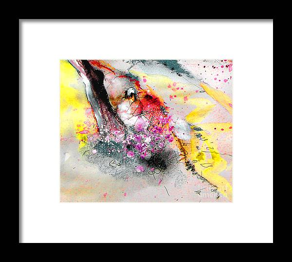 Pastel Painting Framed Print featuring the painting Sunday By The Tree by Miki De Goodaboom