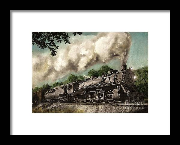 Baltimore & Ohio Railroad B&o Q4 Train Painting Railroad Maryland And Pennsylvania Autumn Fall Colors Steam Engine Framed Print featuring the painting Sunday Drive by David Mittner