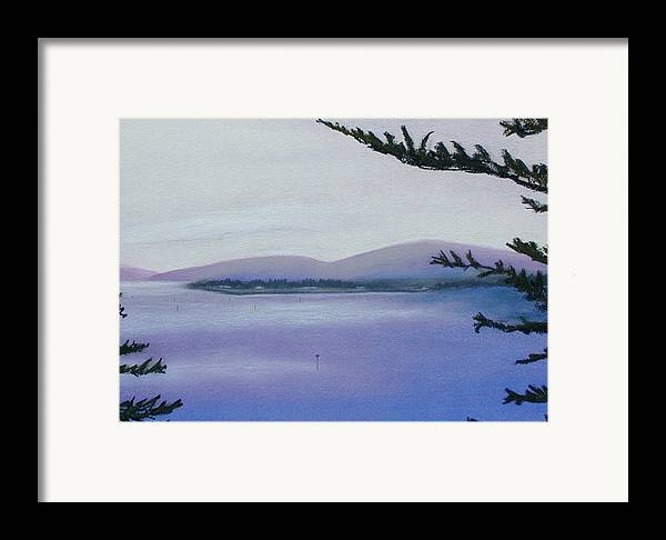 Landscape Framed Print featuring the painting Sunday Morning Bodega Bay California by Gary Jameson