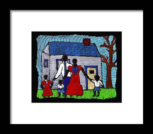 Family Framed Print featuring the painting Sunday Morning Finest by Wayne Potrafka