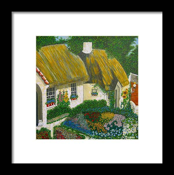 Gardens Framed Print featuring the painting Sunday Morning In The Netherlands by V Boge