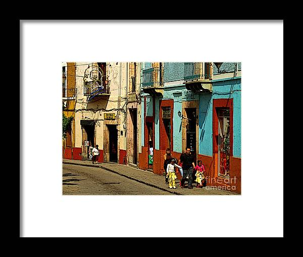 Darian Day Framed Print featuring the photograph Sunday Morning Stroll by Mexicolors Art Photography
