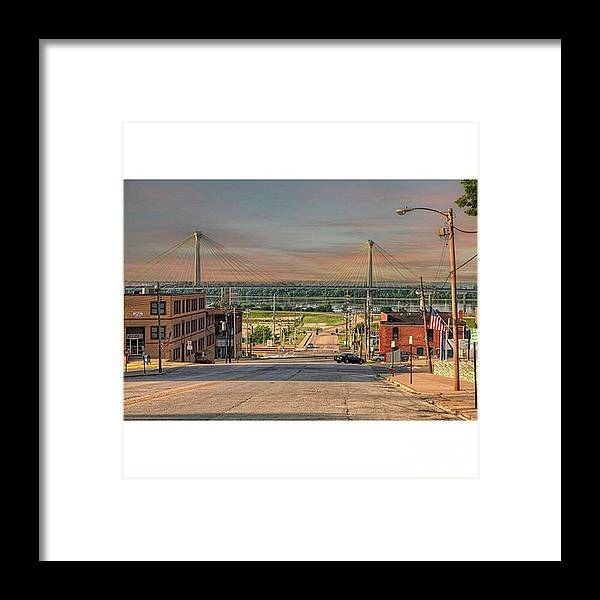 Fineartamerica Framed Print featuring the photograph Sunday Morning Henry Street Alton by Larry Braun
