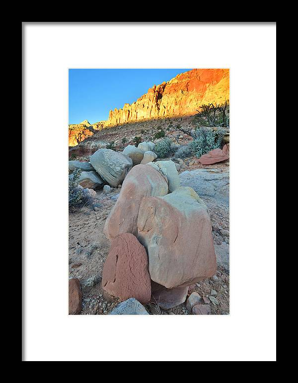 Capitol Reef National Park Framed Print featuring the photograph Sundown On Capitol Reef by Ray Mathis