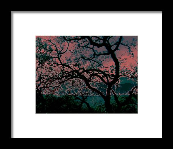 Abstract Framed Print featuring the painting Sundown by Tim Tanis