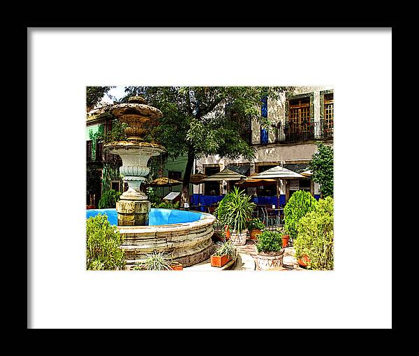 Darian Day Framed Print featuring the photograph Sundrenched Plaza 3 by Mexicolors Art Photography