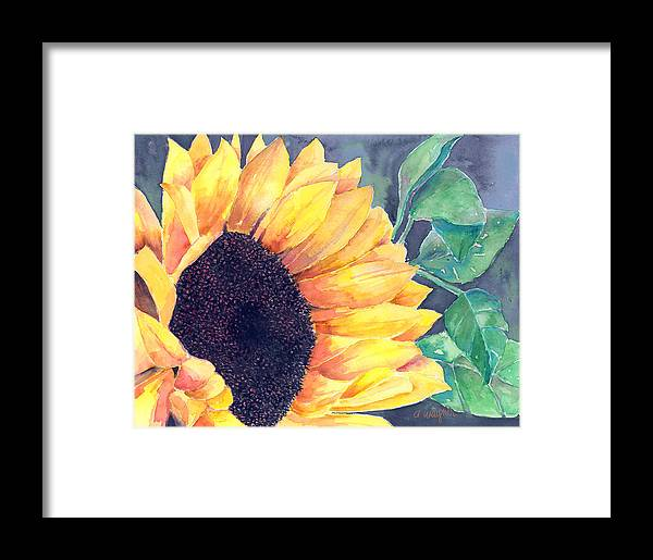 Sunflower Framed Print featuring the painting Sunflower by Arline Wagner
