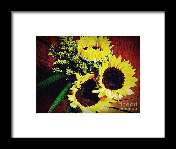 Sunflower Framed Print featuring the photograph Sunflower Decor 3 by Sarah Loft