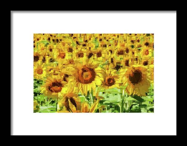 Alicegipsonphotographs Framed Print featuring the photograph Sunflower Edges by Alice Gipson