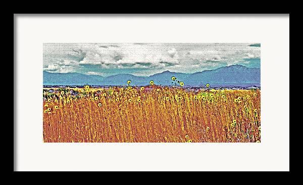 Fields Framed Print featuring the photograph Sunflower Field 1 by Steve Ohlsen
