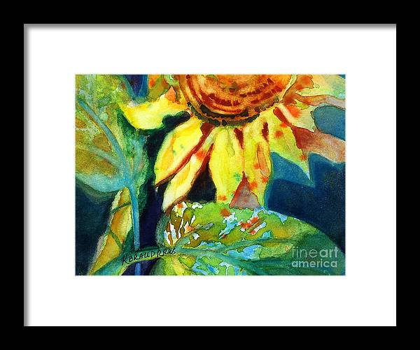 Painting Framed Print featuring the painting Sunflower Head 4 by Kathy Braud