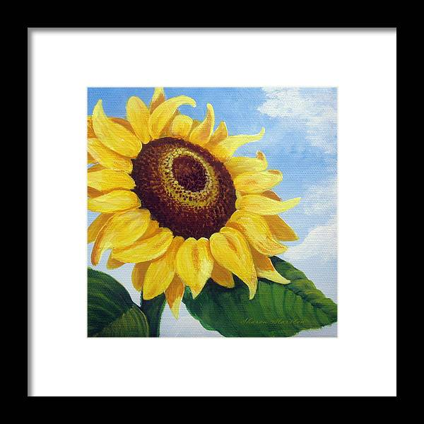 Sunflower Framed Print featuring the painting Sunflower Moment by Sharon Marcella Marston