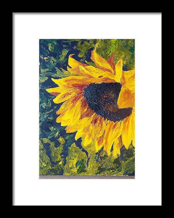 Framed Print featuring the painting Sunflower by Tami Booher