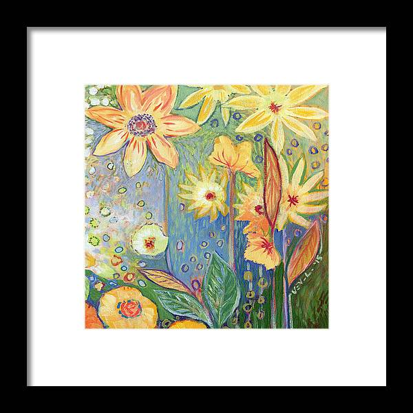 Sunflower Framed Print featuring the painting Sunflower Tropics Part 3 by Jennifer Lommers