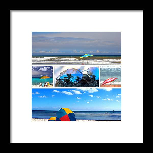 Beache Scene Framed Print featuring the photograph Sunglasses Needed In Paradise by Susanne Van Hulst