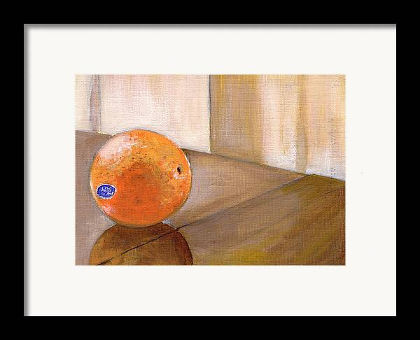 Food Framed Print featuring the painting Sunkist by Sarah Lynch