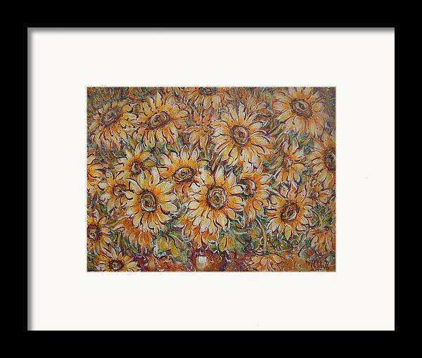 Flowers Framed Print featuring the painting Sunlight Bouquet. by Natalie Holland