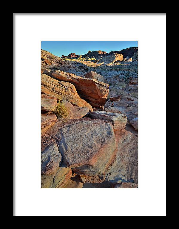 Valley Of Fire State Park Framed Print featuring the photograph Sunlight Fades Out On Valley Of Fire by Ray Mathis