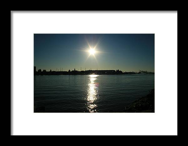 Sun Framed Print featuring the photograph Sunlight On The Water by Joshua Sunday