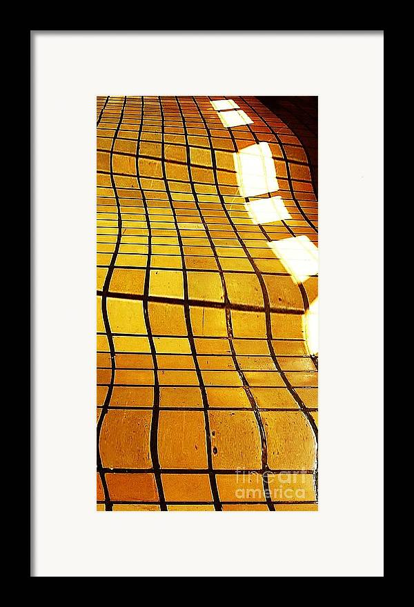 Tile Framed Print featuring the digital art Sunlight On Tile Floor by Kenna Westerman