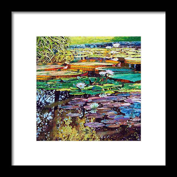 Sunlight Framed Print featuring the painting Sunlight To Shadows by John Lautermilch