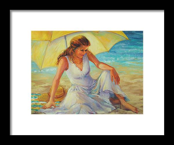 Beach Framed Print featuring the painting Sunlit by Dianna Willman