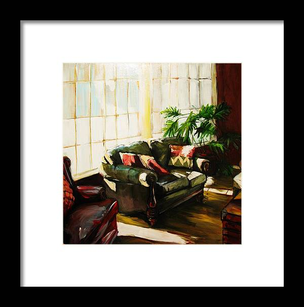 Interior Framed Print featuring the painting Sunlit by Michelle Winnie