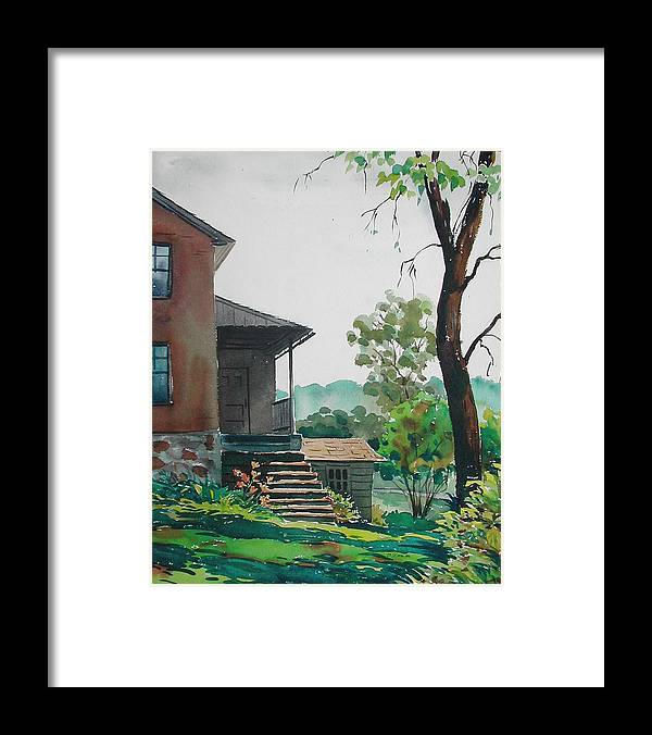 Framed Print featuring the painting Sunlit Steps by Faye Ziegler