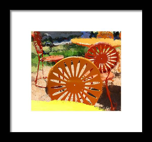 Milwaukee Framed Print featuring the digital art Sunny Chairs 5 by Geoff Strehlow
