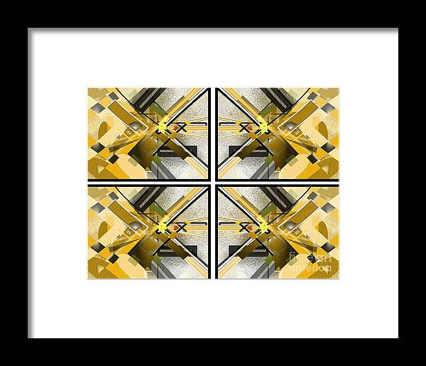 Abstract Framed Print featuring the digital art Sunny City X4 by Jo Baby