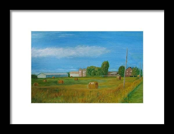Landscape Framed Print featuring the painting Sunny Day Summer by Patricia Ortman