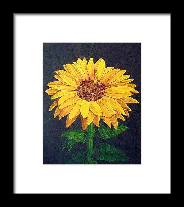 Sunflower Framed Print featuring the painting Sunny Flower by Brandy House