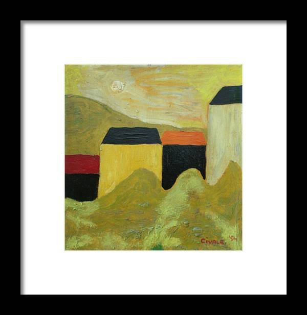 Framed Print featuring the painting Sunny Landscape by Biagio Civale