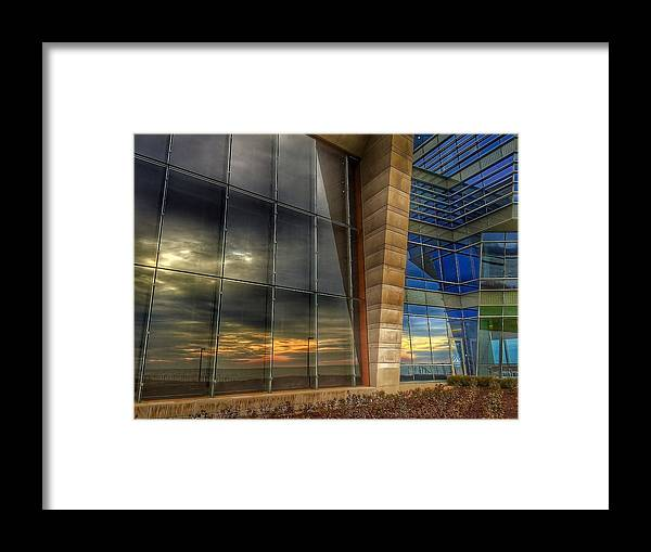 Building Framed Print featuring the photograph Sunny Reflections by Louis Perlia