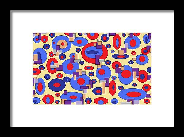 Digital Abstract Framed Print featuring the digital art Sunny Sea by Jordana Sands