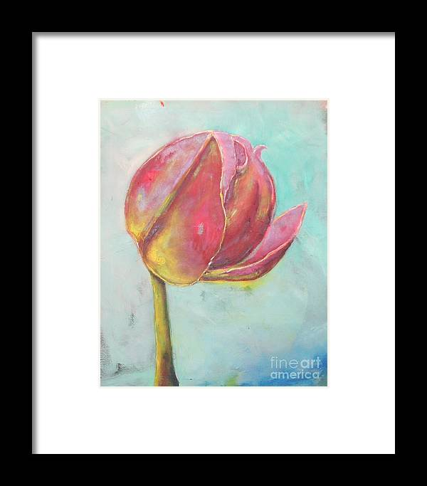 Still Life Framed Print featuring the painting Sunny Side by Tina Marie Rothwell