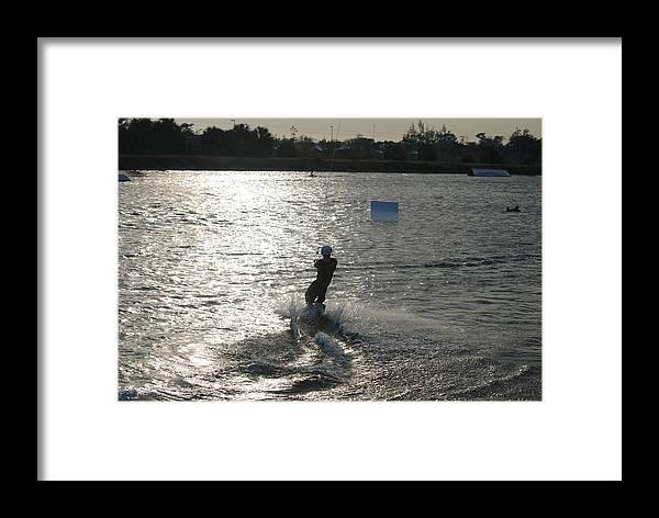 Sun Framed Print featuring the photograph Sunny Ski by Rob Hans