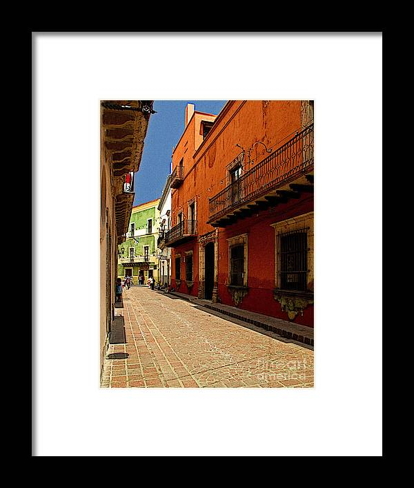 Darian Day Framed Print featuring the photograph Sunny Street by Mexicolors Art Photography