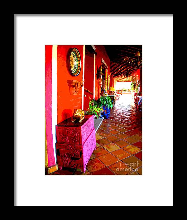Darian Day Framed Print featuring the photograph Sunny Veranda By Darian Day by Mexicolors Art Photography
