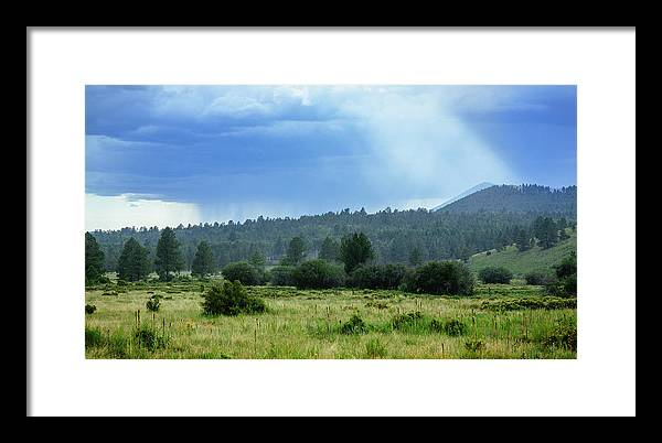 Arizona Framed Print featuring the photograph Sunray With Rain by CEB Imagery
