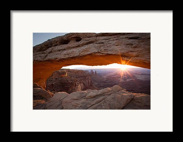 Landscape Framed Print featuring the photograph Sunrise - Mesa Arch by Carl Jackson