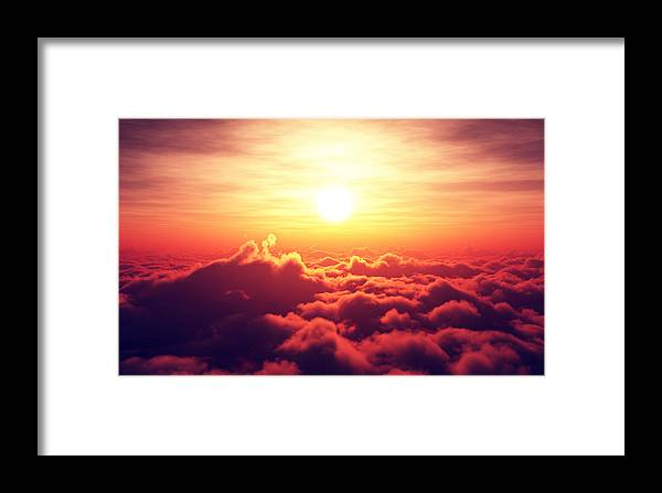 Sunrise Framed Print featuring the photograph Sunrise Above The Clouds by Johan Swanepoel