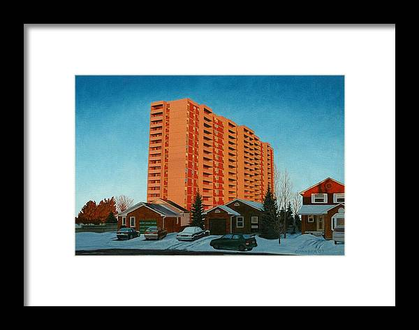 Sunrise Framed Print featuring the painting Sunrise Ajax by Allan OMarra
