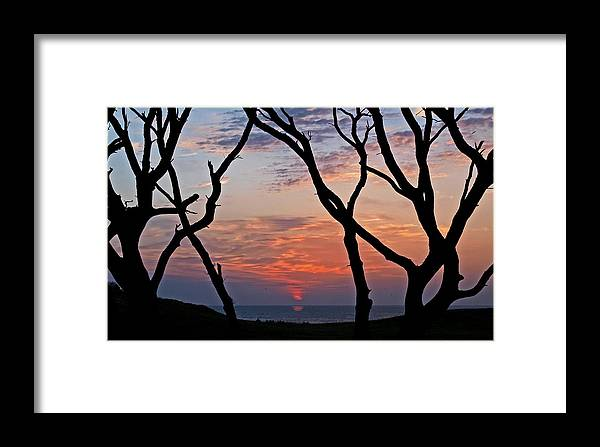 Sunrise Reflection Framed Print featuring the photograph Sunrise At Fort Fisher by Paul Boroznoff