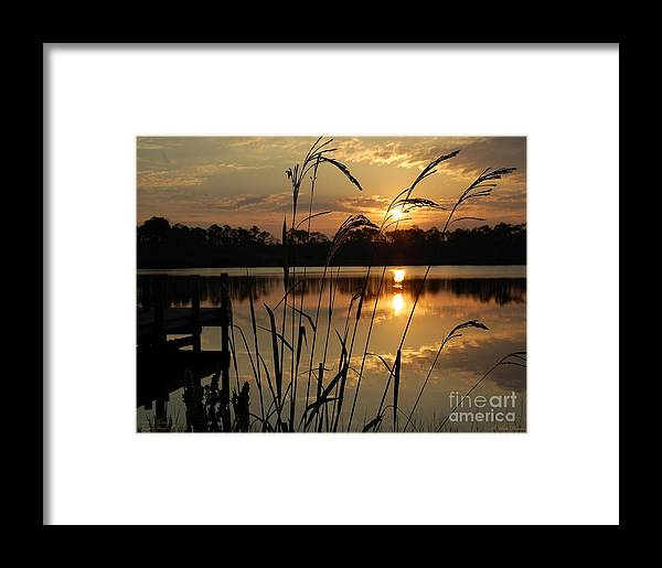 Sunrise Framed Print featuring the photograph Sunrise At Grayton Beach by Robert Meanor
