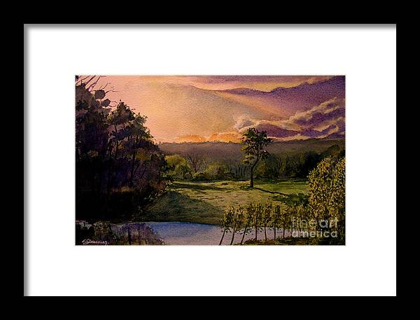 Forest Framed Print featuring the painting Sunrise At L Hermitiere by Christian Simonian