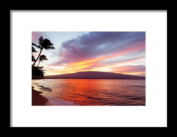 Beaches Framed Print featuring the photograph Sunrise At Ma'alaea Maui by David Olsen